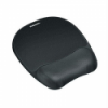 Fellowes Memory Foam Mouse Pad with Wrist Rest - Black - Jersey covering - Non-skid base  52853