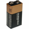 Duracell Transistor 9 Volt Square Battery With Snap Type Terminals - Price is per battery