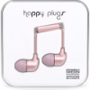 Happy Plugs In-Ear Earbuds with Mic Pink Gold
