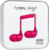 Happy Plugs In-Ear Earbuds with Mic Cerise
