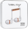 Happy Plugs In-Ear Earbuds with Mic White Marble Rose
