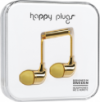 Happy Plugs In-Ear Earbuds with Mic Gold
