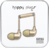 Happy Plugs In-Ear Earbuds with Mic Champagne