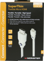 Monster Mobile SuperThin Micro HDMI Cable White 8ft - MBL DL HD HSST-8 D-A WW