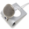 Blue Microphones - Snowflake USB Microphone - Silver - Works with both Apple and Windows machines - No additional software in needed - Includes USB cable - Portable