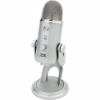 Blue Microphones - Yeti USB Multi-pattern Microphone - Silver - Mute button - Volume control - Headphone output, zero-latency - Triple capsule array (cardioid, omnidirectional, and bidirectional) Works with both Apple and Windows machines - No additional software needed - Includes USB cable