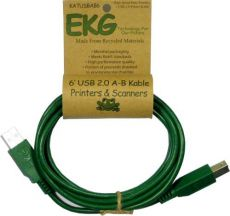 EKG USB Cable Green - 6 ft.