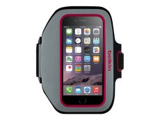 Belkin Sport-Fit Plus Armband for iPhone 6, 7 and 8. - Black/Fuchsia.