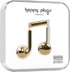 Happy Plugs Earbuds Plus with Mic Gold