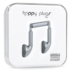 Happy Plugs Earbuds with Mic Space Gray
