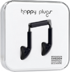 Happy Plugs Earbuds with Mic Black