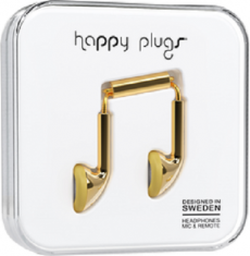 Happy Plugs Earbuds with Mic Gold