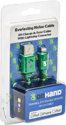 Charging Cable OnHand Lightning/8-pin-Green