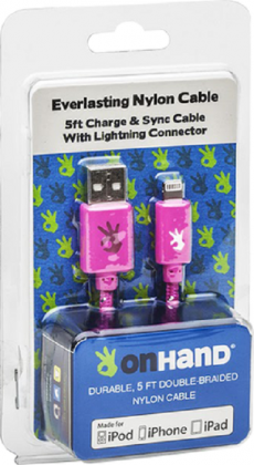 Charging Cable OnHand Lightning/8-pin-Pink