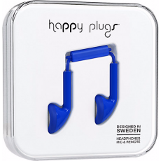 Happy Plugs Earbuds with Mic Cobalt